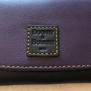 Dooney & Bourke Purple and Black leather wallet